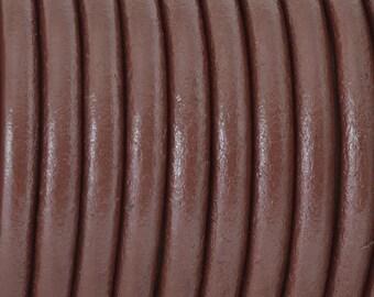 Leather Cord 4.5mm round Dark Brown. (2')  3239