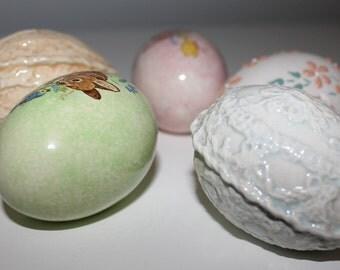 Vintage Handmade Easter Egg Set item #1411