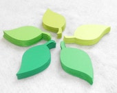 Set of 50 Green Die Cut Leaf Leaves - Choose Your Color - Table Numbers - Wedding Place Cards - Scrapbook - Crafts
