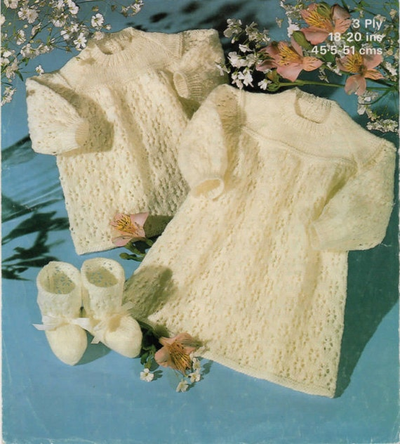 Knitting Pattern Angel Top : Vintage knitting pattern to knit Lacy Angel Top Dress and