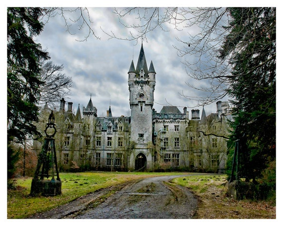 Fantasy castle photography, Medieval fairytale castle Europe, Fine art photography, Wall art, Home decor, art print