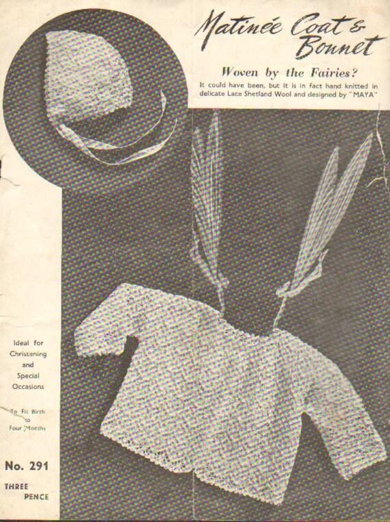 Vintage Leaf Knitting Pattern : Lettuce Leaf 291 lettuce leaf pattern vintage baby knitting