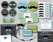 download mustache little man bow tie baby shower chevron shower