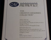 Rretired Creative Memories 8x10 White Refill Scrapbok pages 15 sheets/30 pages
