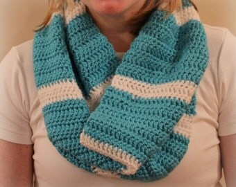 Thick and Thin Striped Cowl