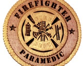 Rustic Wood Plaque - Firefighter Paramedic