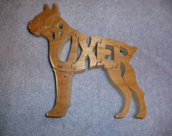 Wooden 'Boxer' Dog Puzzle