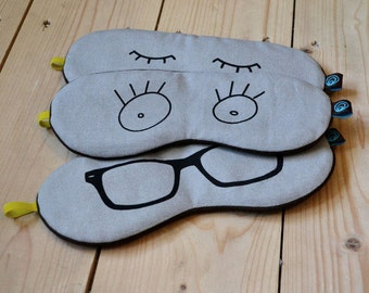 sleep mask. grey