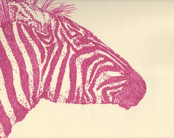 Zebra Illustration - Print