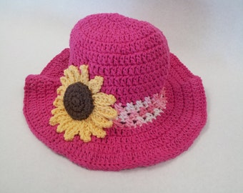 Sun Hat with Flower (117)