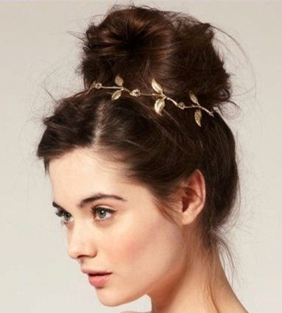 Items similar to Beautiful Gold Leaf Grecian Goddess ...