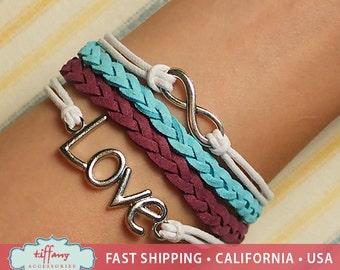 Bracelet- Infinity Bracelet, Infinity Wish Bracelet, Love Bracelet, Friendship Bracelet, Multilayer Bracelet - S3