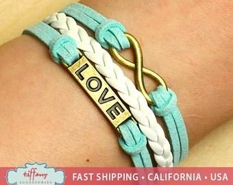 Bracelet- Infinity Bracelet, Infinity Wish Bracelet, Love Bracelet, Multilayer Bracelet, Friendship Bracelet - R57