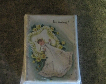Vintage Newborn / Baby Announcement Cards UNOPENED