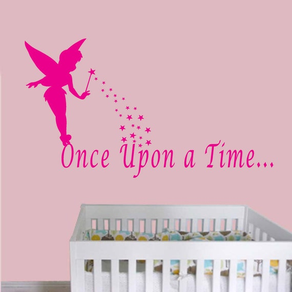 Once Upon A Time Words: Large Fairy Tinkerbell Princess Once Upon A Time By Lanadecals