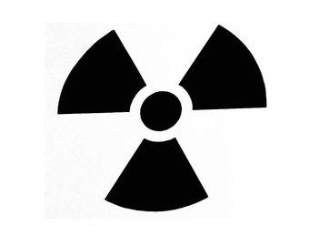 "Radioactive 3"" Decal"