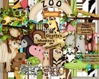 It's A Zoo In Here Digital Scrapbook Kit