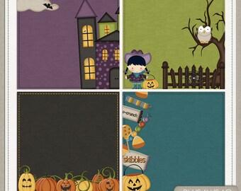 Ghostly Night Halloween Digital Scrapbook Deco Papers