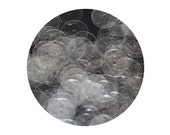 Sequins 8mm Flat Crystal Clear