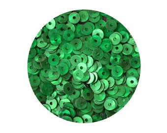 4mm Flat Sequins Green Prism Multi Reflective Metallic