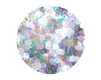 4mm Flat Sequins Crystal Iris Rainbow Iridescent Cool Hue