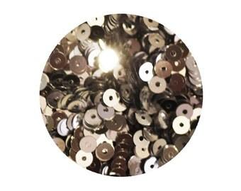 4mm Flat Sequins Silver Metallic