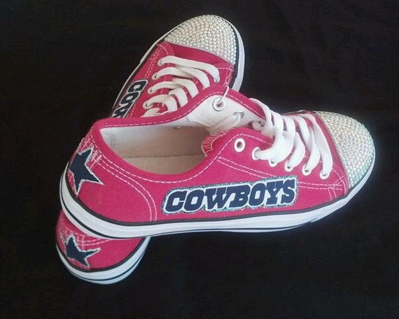 Pink Dallas Cowboys Baby Shoes