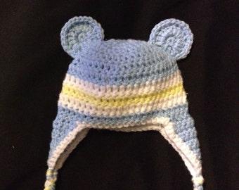 Handmade Crocheted UCLA Beanie