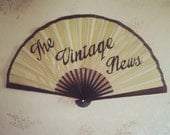 MADE TO ORDER Handpainted personalised cream fan with your choice of up to three words