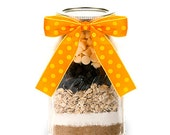Oatmeal Raisin Mason Jar Cookie Mix  - Best Cowgirl Cookie Mix in a Mason Jar - Western Gifts - Country Gifts - Edible Gifts - Desserts Gift
