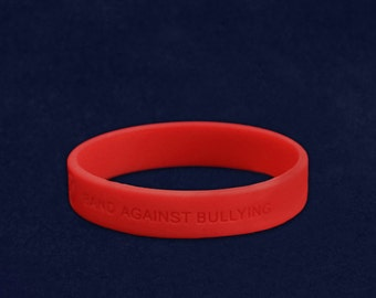 Anti Bullying Silicone Bracelet (RE-SILB-BUR)