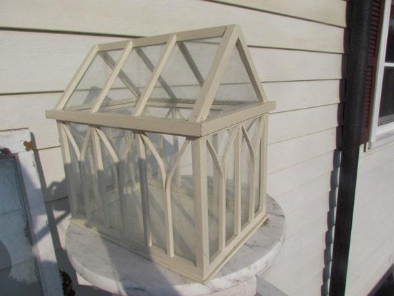 vintage shabby chic pflanze gew chshaus glasterrarium. Black Bedroom Furniture Sets. Home Design Ideas