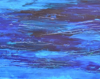 I came up twice and cried. Original abstract painting 100x50cm