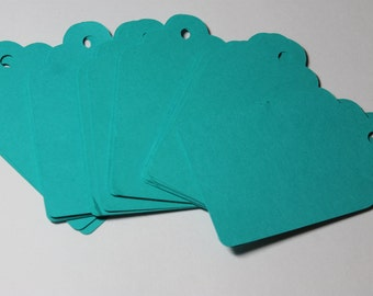 """Clearance....Last one...25pc 3"""" Teal Tags"""