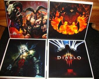 Diablo III Coasters (set of 4)