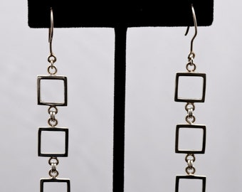Geo9 - Earrings - Sterling Silver