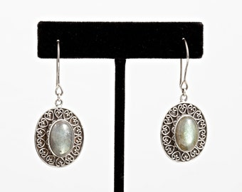 Labradorite 071 - Earrings - Sterling Silver