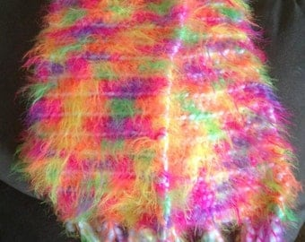 Neon Fluff with Tassels. Also available plain or with pompoms