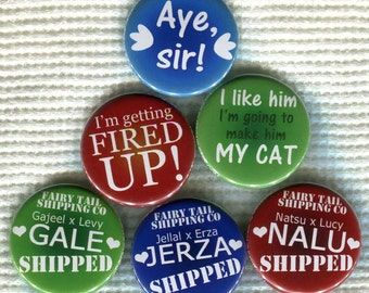 "1.25"" Fairy Tail anime quote Pinback Button"