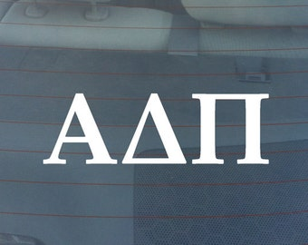 "Alpha Delta Pi Sorority Sticker Window Laptop Car Decal Vinyl Ipad Iphone 3"" 6"" 8"""