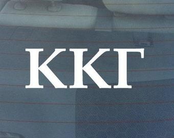 "Kappa Kappa Gamma Sorority Sticker Window Laptop Car Decal Vinyl Ipad Iphone 3"" 6"" 8"""