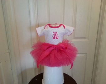 White pink skirt  onesie