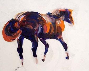 "Original Horse Fine Art Acrylic Painting 16 x 20"" ""Phar Lap"""