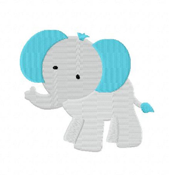 4X4 Baby Elephant Machine Embroidery Design By StichinItUp