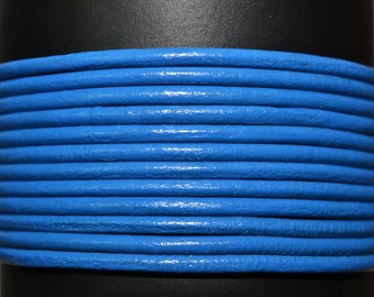 Blue - 1.5mm Leather Cord per yard