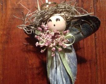 Mussel Shell Angel Ornament