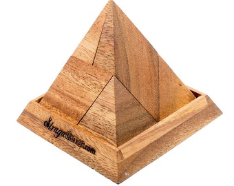 Five Pieces Pyramid Wooden Puzzle