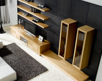 Natural Maple Entretaiment Center Tv Stand