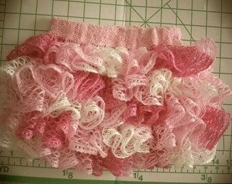 Baby or toddler pink ruffled skirt