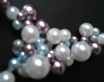 pearl beaded lariet necklace 24 inches